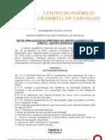 Eleições para o CACC - Edital de Eleição da Diretoria Acadêmica
