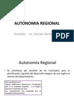 Autonomia Regional e Indigena