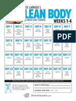 Leanbody Labrada Calendar