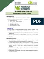 DISPOSICIONES ACADÉMICAS PAC-Enero- 2014