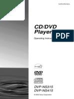 Sony CD/DVD Player DVPNS315 User Guide