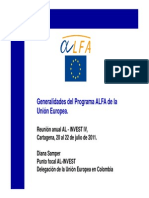 AL INVEST IV Enc.anual Programa ALFA-UE D.samper Emb. UE Colombia Jul 2011
