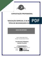 EDUCAÇÃO ESPECIAL E OS DIFERENTES TIPOS DE NECESSIDADES ESPECIAIS