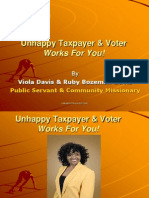 Unhappy Taxpayer & Voter PowerPoint Presentation - Action Speaks