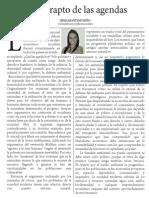 El rapto de las agendas - Irma Montes Patiño - Conflictos sociales
