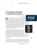 A Academia Budo e a génese do Karate