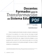 2011. Zamora. Docentes formados para la transformación del sistema educativo