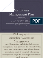 meghan litten classroom management plan