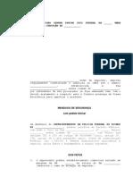 MODELO de mandado de segurança contra a MPV 415/2008