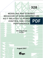 CIGRE Report on Wind Generator Modeling and Dynamics
