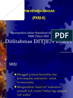 Penjelasan PKM-K (DIKTI)