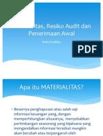 Penerimaan, Perikatan, Perencanaan Audit, Materialitas 1