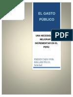 El gasto público en el Perú