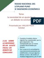 Ajuste Fiscal Exposicion