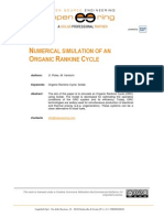 ! 19 Organic Rankine Cycle