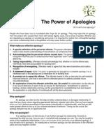 The Power of Apologies