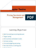 Chapter 12 -Pricing Decisions and Cost Management