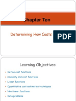 Chapter 10 - Determining How Costs Behave