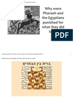 Why Were Pharaoh and the Egyptians Punished for What They Did to the Israelites?