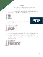 MIT 9.00 Exam 1 2007 Answers