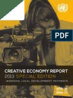 UNESCO Creative Economy Report 2013