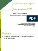 Finite State Automata (FSA)-TBO