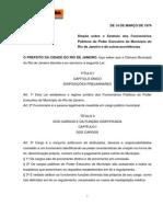 O Estatuto dos Servidores Públicos do Município do Rio de Janeiro