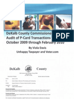 Internal Audit of P-Card transactions for period October 2009 through February 2010: