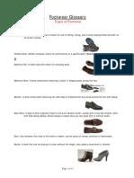 Footwear Glossary Shoe Styles 06-13-08