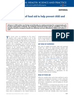 Making the Most of Food Aid to Help Prevent Child and Maternal Deaths