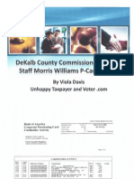 DeKalb County Commissioners Chief of Staff Morris Williams P-Card Activity: