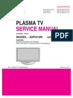 Lg- 42pq10r Plasma Tv