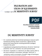 Configuration and Specification of Equipments Used in Dc resistivity  survey