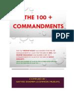 The 100 + Commandments
