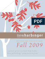 New Harbinger Catalogue Fall 2009