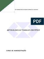 Apostila de Metodologia do Trabalho Científico Ciesa