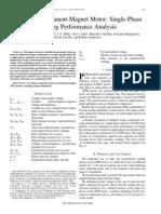Line-Start Permanent-magnet Motor-single-phase Starting Performance Analysis