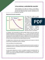 Actividades de lasActividades de las enzimas y velocidad de reacción. enzimas y velocidad de reacción