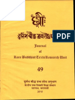 Dhih, A Review of Rare Buddhist Texts XLIX - Ngawang Samten and S. S. Bahulkar