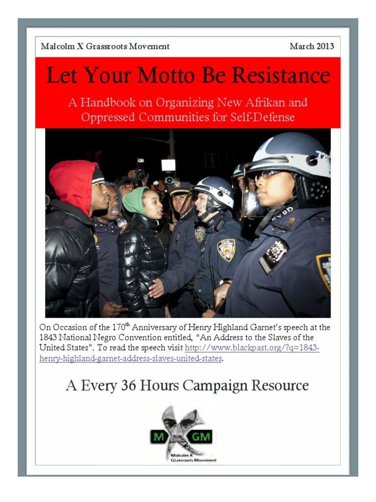 Let your motto be resistance self defense manual violence police solutioingenieria Choice Image