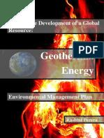 Geothermal Energy Global Management Plan FULL REPORT