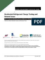 2013 CASE R Refrigerant Charge Testing Dec 2011