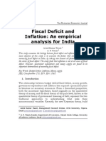 M TiwariFiscal Deficit and Inflation