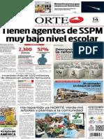 Periódico Norte de Ciudad Juárez edición impresa del 14 abril del 2014