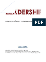 Assignment of Human Resource Management