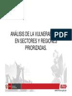 Analisis de La Vulnerabilidad en Sectores y Regiones Priorizadas - Minam