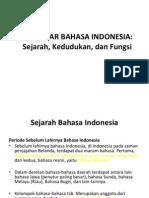 Pertemuan I Pengantar Bahasa Indonesia-FKP
