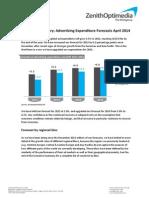 Adspend Forecasts April 2014 Executive Summary FINAL
