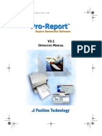 Pro Report Manual