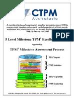 5 Level Milestone TPM3 Excellence Award